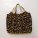 グラニー風 A4が入るイカットのバッグ(赤茶×黒)/着物に合うバッグ