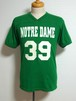 1990's GATOR ノートルダム両面ナンバリングフットボールTシャツ 緑 表記(S)