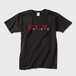 F.L.Y. Crew-Neck T (黒×バーガンディー)