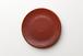 フラットプレート 赤釉 akayu(21cm)