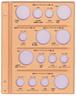 テージー社製 平成コインアルバム スペア台紙 5Set C-38S1-G