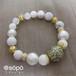 088. power stone jewelry bracelet -oriental white-