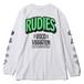 """RUDIE'S / ルーディーズ   """" GOOD VIBRATION LS-T """" - white"""