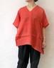 L'Ancre (アンカー)ハードマンズリネンポンチョTシャツ