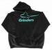 GRINDERS logo hoodie (Black x Tiffany)