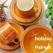 ホーンジー サフラン カップ&ソーサー・ケーキ皿・シリアルボウル ペア ホリデーペアセット