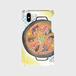 【M】シロツメクサとカエル手帳型パエリアの歌スマホケースAndroidMサイズ,iPhone5/5s/6/6s/7/SE/X/XS/