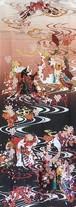 【夏雪】51 てぬぐい桜と狐