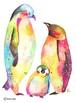 ペンギン仲良し家族[A4ポスター]