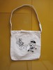 """Minto/ Hungry Mintown Ys """"Tote bag"""" Natural×Black×Silver"""