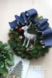 クリスマスリース トナカイと赤い星 cw15-3