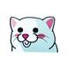 白ネコ(小)     猫ステッカー