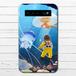 #080-005 モバイルバッテリー おしゃれ 海 かわいい クラゲ iphone スマホ 充電器 タイトル:くらげの海 作:星宮あき