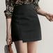 【送料無料】アンバランス かわいい ガーリー ショート丈 ミニ ラップスカート