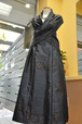 紺大島 高級感バリバリ豪華着物リメイクスカートとショールベスト