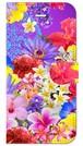 【iPhone6/6s】 Hawaiian Flowers Garden ハワイアンフラワーズガーデン ー Blue Violet ブルーバイオレット 手帳型スマホケース