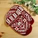セルビア手編みルームソックス(レディス)