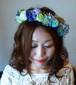 ステルブルーのスカビオサとブルーパープル系の花冠