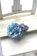 ダリアとアンティーク紫陽花のコーム ブルー no,1826