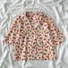 可愛い オシャレ 新作 折り襟 半袖 カジュアル オレンジ シャツ・トップス