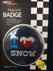 129番 ゴーバッジ Seasonal I LOVE SNOW