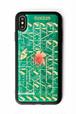 FLASH NERV iPhone XS Maxケース 緑【東京回路線図ピンズをプレゼント】