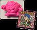 ラーメンくんゴム人形(ピンク)+聖ラブ・ラリ雄(ラメ)
