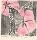 木版画  〈題名〉 【 蝶と花 】
