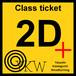 YKW 2D+ Class ticket