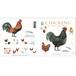 グリーティングカード 8種 封筒付き KOUSTRUP & CO. - Chickens 鶏 ヒヨコ 羽毛 卵