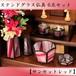 香炉灰サービス♪【ステンドグラス仏具・サンセットレッド6具足】国産ハンドメイド