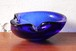 60年代~70年代 イタリア・ムラーノ ベネチアン・グラス アッシュトレイ 小物入れ ブルー