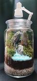 苔ボトル Kokebottle Moss bottle ライト付きセット 007