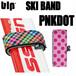 blp スキーバンド2個セット ピンクドット スキー板の持ち運びに!