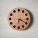 木の時計マル(Φ240) No19 | クルミ【針、選択可】