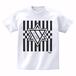 ERICH / HEXAGRAM STRIPE T-SHIRT WHITE