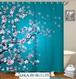 BestonStyle 花柄 桜 シャワーカーテンセット USA直輸入品