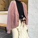 4色 シャギー ニット カーディガン デート モテ服 レディース ファッション 韓国 オルチャン