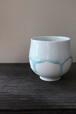 アートを感じる美しい陶器 作家【西 隆行 / Nishi Takayuki】雫フリーカップグラス No.7
