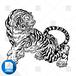 【png画像素材】虎8 Lサイズ  横3000px × 縦2663px