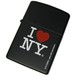アイ・ラブ・ニューヨーク・ブラックマット - Zippo I Love NY Black Matte