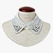 LCE-001 WH レース刺繍付け襟(ビジュー付き)ホワイト