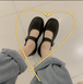 レディース ストラップシューズ 革靴 ラウンドトゥ ローヒール 合皮 革 柔らかい 黒 ブラック 脱げない 通勤 通学 学生 韓国
