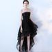 フィッシュテール ドレス チューブトップ 編み上げ 刺繍 結婚式 パーティー 二次会 お呼ばれ(F026)