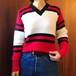 USED vintage アクリルニット Logan Knitting Mills Vネックセーター