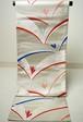 袋帯 正絹  銀糸 松葉模様 リユース 035