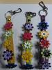 お花のストラップ(大) 黄 / 緑 / 紫