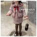 ベビー&キッズ ツイードチェック フォーマルスーツ セットアップ 90㎝ 100㎝ 110㎝ 120㎝ 130㎝ 140cm