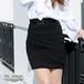 フロントタック入りタイトスカート※ベルト付き【PS9011S】