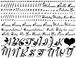 ハートアルファベット小文字*Black《白磁用》